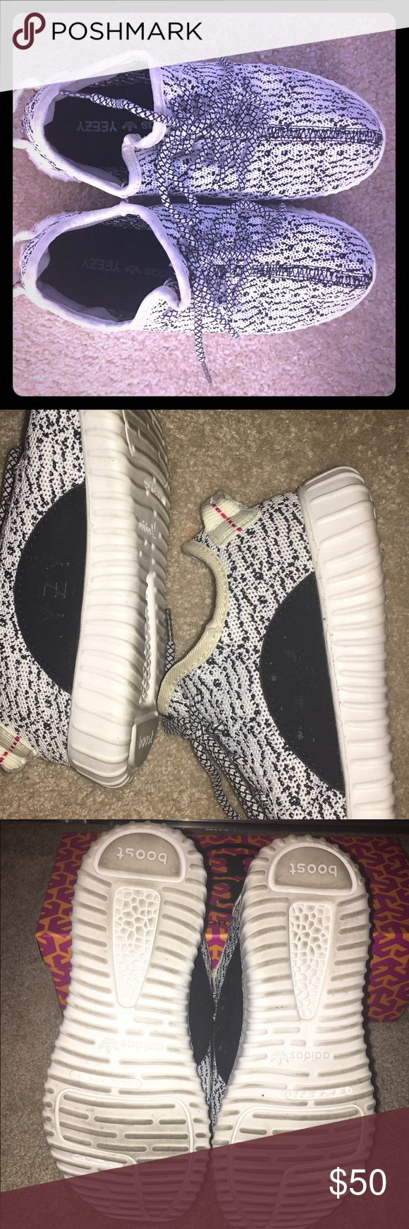 Yeezy Boost Inspired Tennis Shoes I purchased these for quite a bit on eBay! Gently used. See photos for condition. Please don't expect new shoes. Shoes