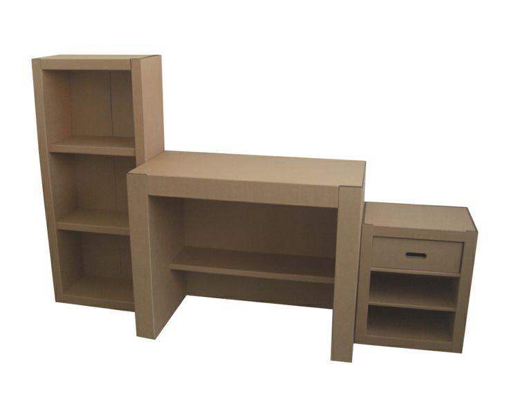 Conjunto de la colección Zeta, formado por escritorio, estantería y cajonera.