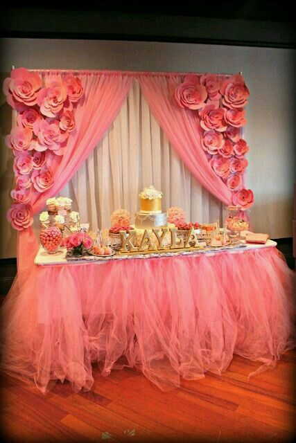 Beautiful Baby Shower Table Set up