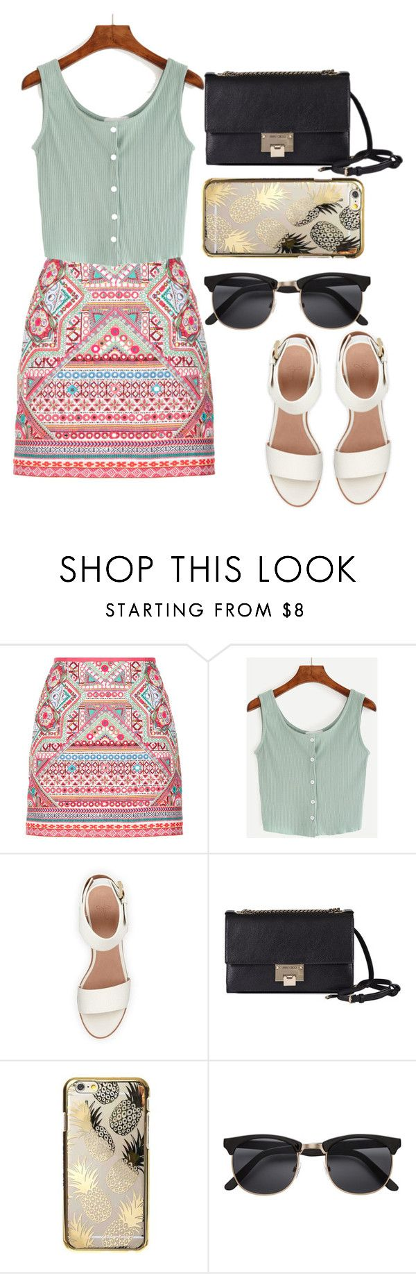 """""""Fashion"""" by camillyraiterb ❤ liked on Polyvore featuring Accessorize, BEA, Jimmy Choo, Skinnydip, moda and polyvorefashion"""
