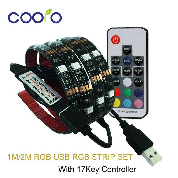 $4.11 (Buy here: https://alitems.com/g/1e8d114494ebda23ff8b16525dc3e8/?i=5&ulp=https%3A%2F%2Fwww.aliexpress.com%2Fitem%2FNarrow-side-5mm-LED-strip-2835-LED-strip-light-120LEDs-m-no-waterproof-5m-lot-White%2F32372262459.html ) USB LED Strip 5050 RGB TV Background Lighting Kit Cuttable with 17Key RF Controller 1M/2M Set,Waterproof or Non waterproof for just $4.11