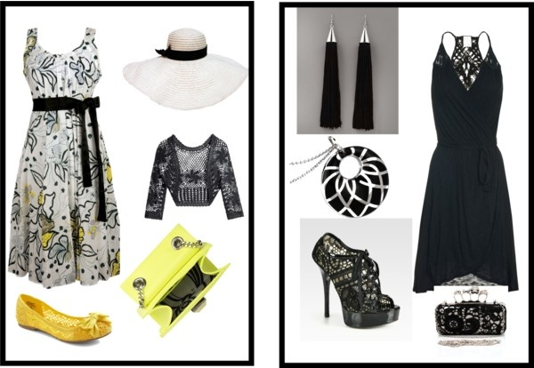 50s day to modern night, created by sarahutton on Polyvore