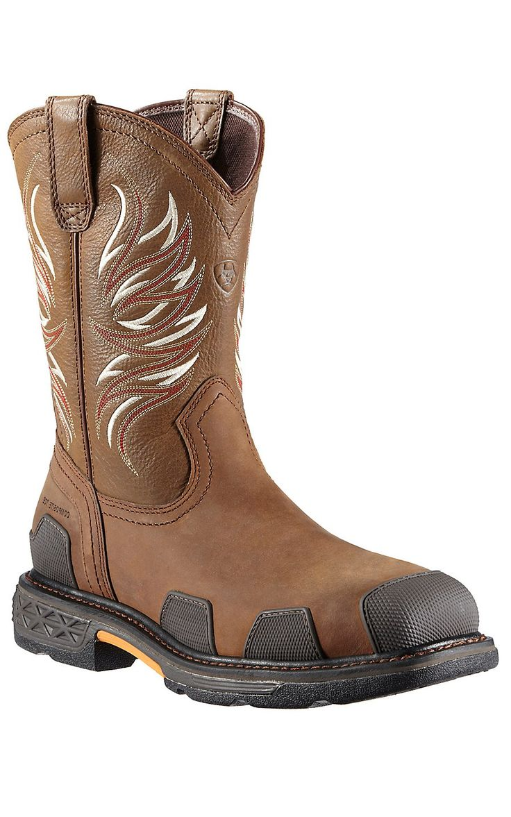 Ariat® Overdrive Alamo Brown Square Composite Toe Western Work Boots