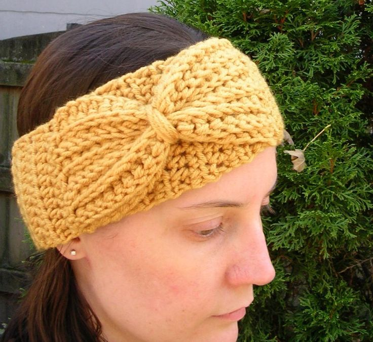 907 best headbands and earwarmers images on pinterest beanies crocheted headband with bow pattern on craftsy 195 dt1010fo