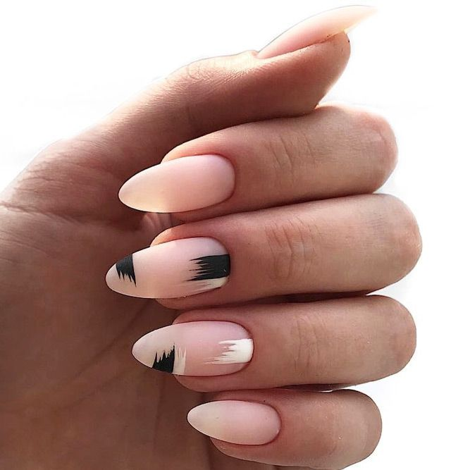 27 Terrific Designs Done With Gel Nail Polish To Try This Season Types Of Nails Shapes Matte Nails Design Gel Nail Polish