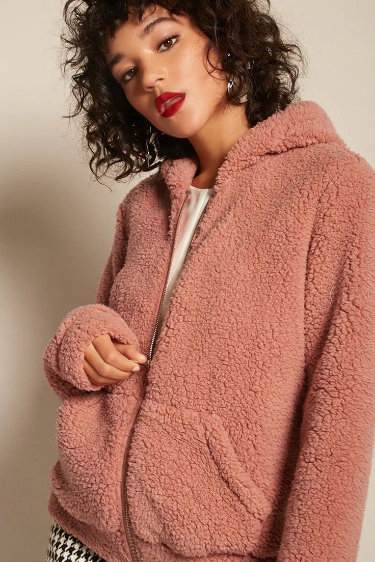 Product Name:Faux Shearling Hooded Jacket, Category:outerwear_coats-and-jackets, Price:29.9