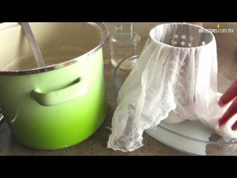 Como hacer en casa queso fresco,se le puede anadir un botecito de yogur natural y rendira un poco mas.