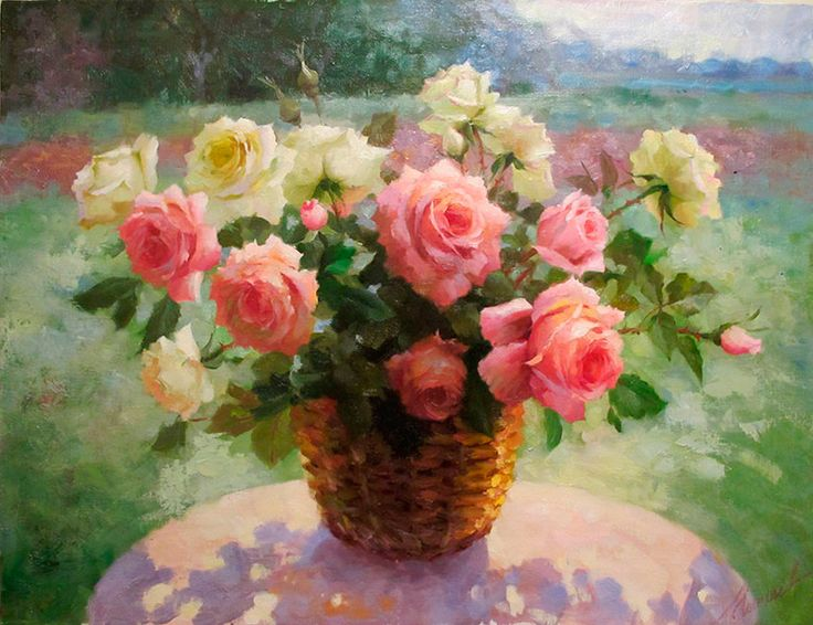 художник  Николаев Юрий,  Розы
