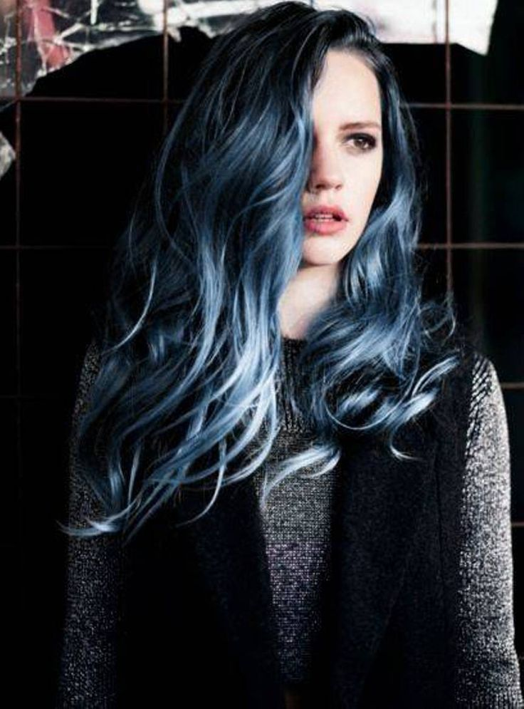 High Resolution Navy Blue Hair Color
