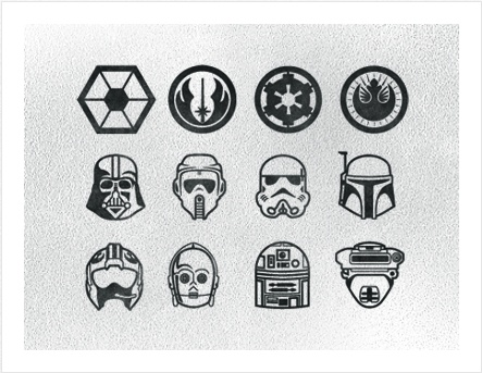 Star wars icons. Well done in my book.