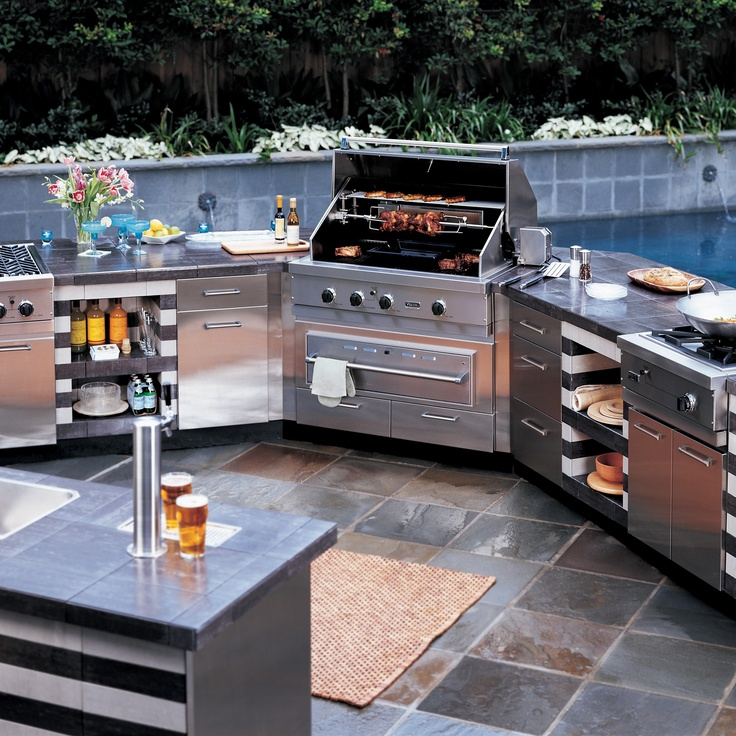 Viking gas grills are built outdoor tough and feature for Viking outdoor grill