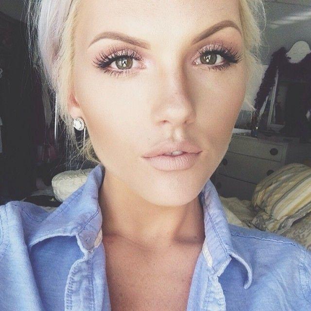 some amazing inspiration from one of our favorite makeup artists Jessicaaa @_sassafrass we ♥ this! moncheribridals.com #weddingmakeup #_sassafrass