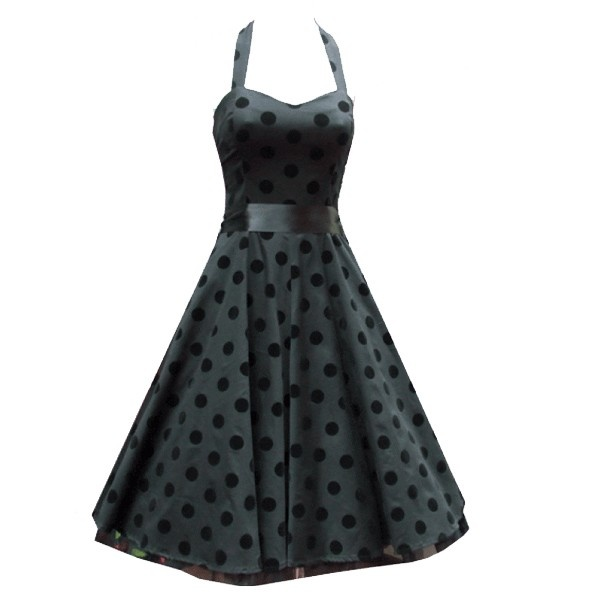 HR Flocking Polkadot Rockabilly Dress this is very old fashion but I love it! So classy!!!