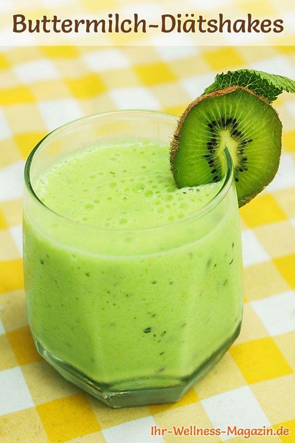 Buttermich-Shake mit Kiwi – Diät-Shake-Rezept mit Buttermilch