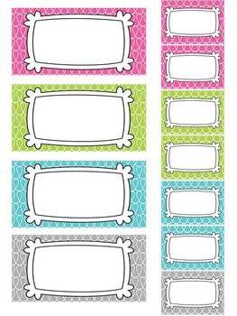 Teacher's Toolbox 22 Editable Labels