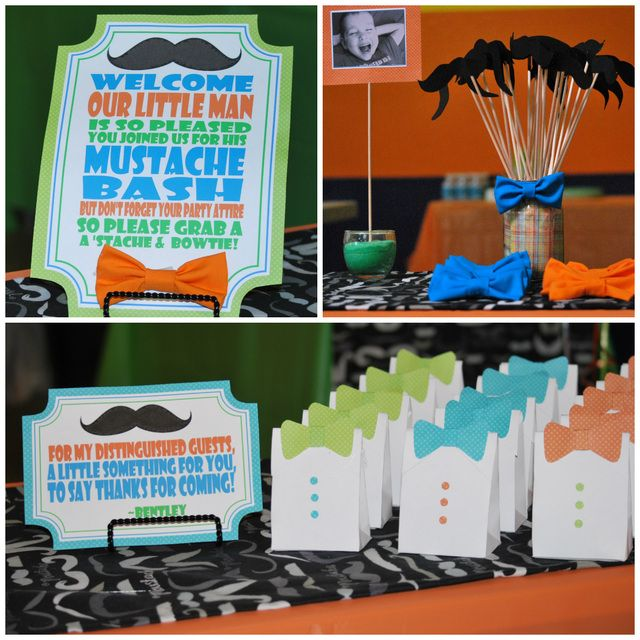 "Photo 10 of 12: Little Man Mustache Bash / Birthday ""Bentley's Little Man Party"" 