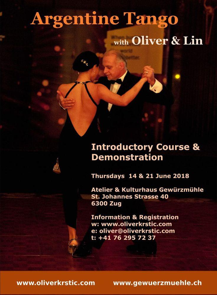 Tango Argentino Einführungskurs & Vorführung in Zug - Juni 2018 - Oliver Krstic