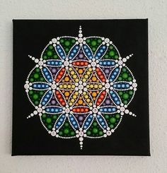 Leinwand Mandala-Blume