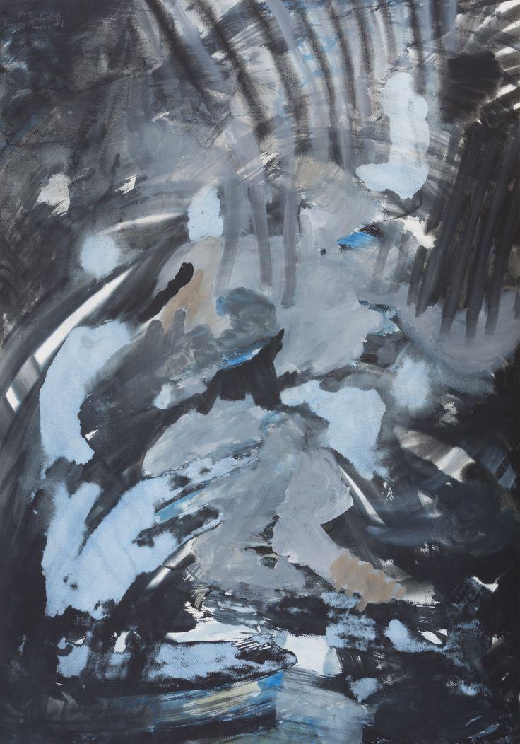 Agnieszka Kopczyńska-Kardaś, Cykl 2001r. 100 x 70, tempera, 2001