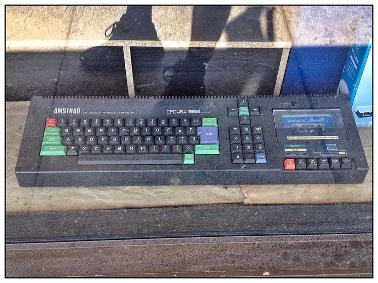 On instagram by loneoranger #amstrad #microhobbit (o) http://ift.tt/212Q6Mw saw this in a shop window recently. I thought I had to take a picture to show some of my younger work mates what computers used to be like.  Please excuse the reflection of my size 11 steel capped feet.   #64k #computer #computerscience #computergeek #oldschool #iphone4s #iphone4s