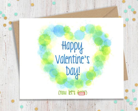 Mature Happy Valentine's Day - Funny Valentine's Day Card - Vday Greeting Card - Card for Lover - Suggestive Greeting - FourLetterWordCards