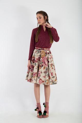 Floral full circle skirt