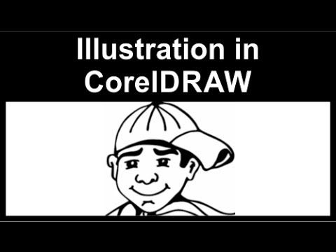 Converting a sketch to an illustration in CorelDraw - YouTube