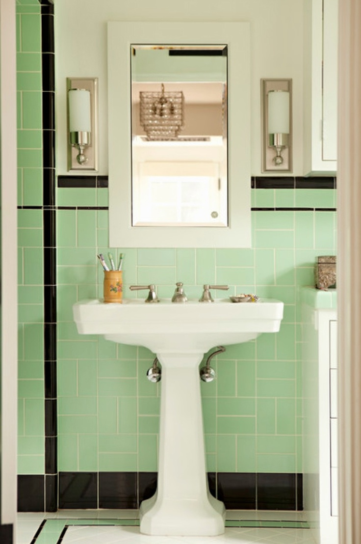 34 best badev relse images on pinterest bathroom ideas home and traditional bathroom by tim barber ltd architecture interior design black white and light mint green tiles are a nostalgic choice full of charm