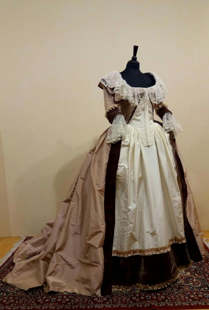 A beautiful gown made by Nicola Trotta Costume Designer.