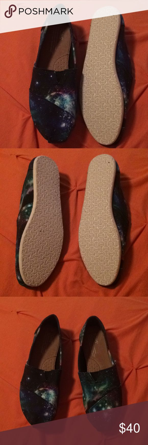 Galaxy Toms Perfect condition and worn only once Toms Shoes Flats & Loafers