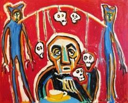 French Man Taking Tea painting by Noel Fielding