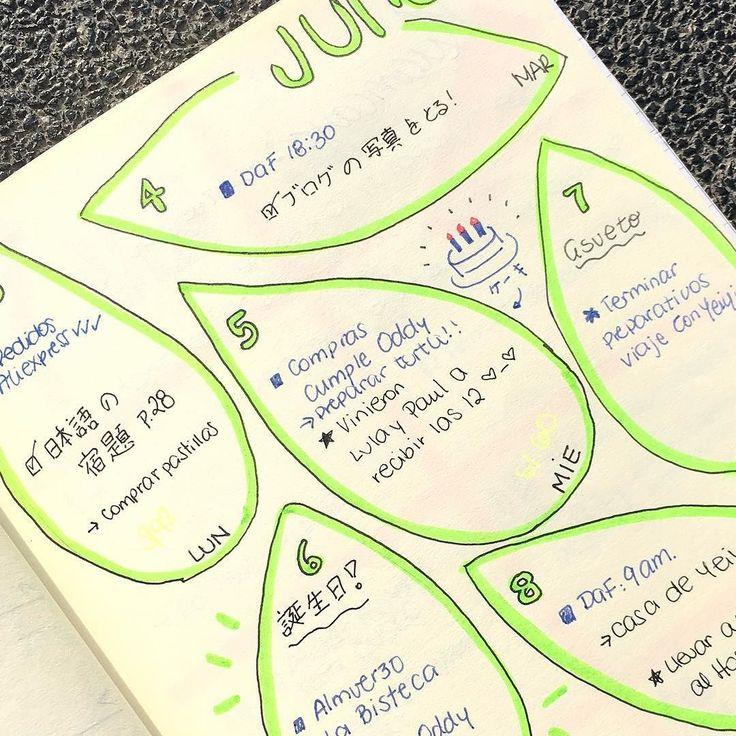 Hace un par de días les mostramos un BuJo minimalista. Hoy es algo más colorido  Qué estilo tienen ustedes? . . . #blogger #perú #bulletjournal #bujo #stationery #notebook #手帳 #日記 #文房具 #文具 #葉 #cuadernos #agenda #papeleria #plannerlove #planneraddict #日本語