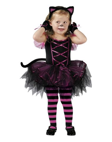 Love this for Isabel's Halloween Costume...just a witches hat instead of the cat ears. :)