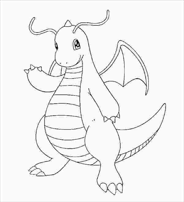 Dragon Type Pokemon Coloring Pages Pokemon Dragon Dragon Type