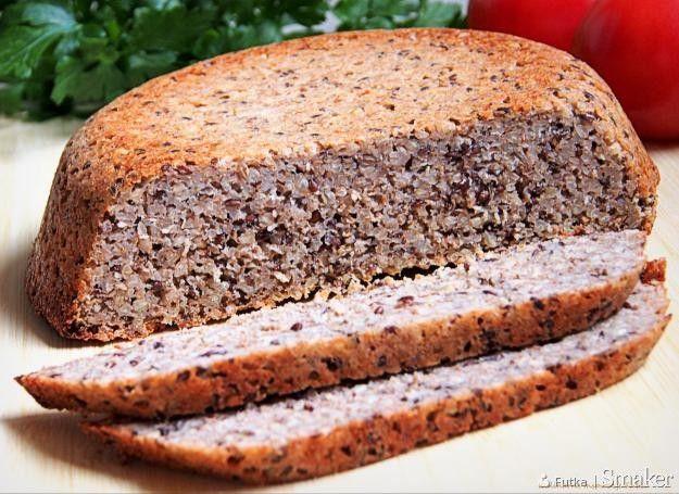 Chleb gryczany z siemieniem lnianym