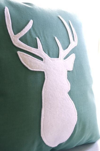This would be super easy to DIY and with different animal silhouettes #pillow