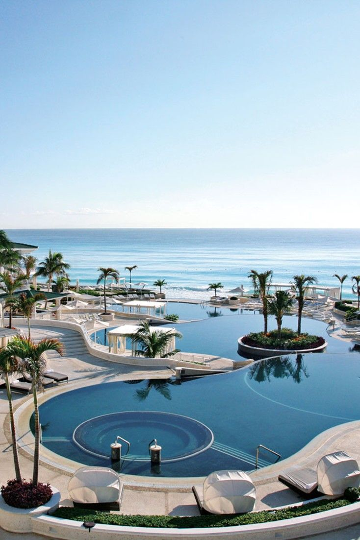 Hotel sandos cancun luxury experience resort marf travel vacation - Formerly Le Meridien The Sandos Cancun Is In A Stunning Location Overlooking The Caribbean