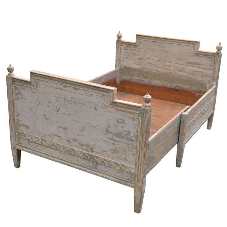 Gustavian Bed And Large Ottoman | From A Unique Collection Of Antique And  Modern Beds At