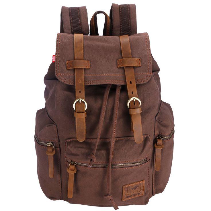 Canvas Vintage Rucksäcke BESTOPE Damen Herren Schulrucksack Retro Backpack für Campus Studenten und Outdoor Reisen Wandern mit Großer Kapazität: Amazon.de: Koffer, Rucksäcke & Taschen