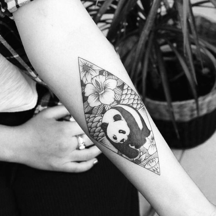 """Artist: @ediordu Check out @the.tattooer for more impressive tattoos! #inkstinct_tattoo_app #inkstinctsubmission #tattooersubmission #panda #blacktattoo…"""