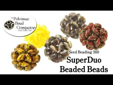 Video: How to Make  Beaded Beads with SuperDuos  ~ Seed Bead Tutorials