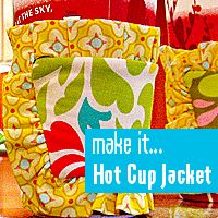 Hot Cup Jacket: Gift Bags, Gifts Bags, Structures Fabrics, Sewing Idea, Sewing, Comprehension Articles, Fabric Basket, Fabrics Baskets, Cups Jackets