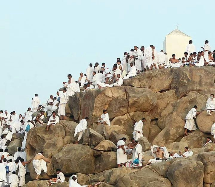 The Pilgrims seeking mercy on the day of Arafah
