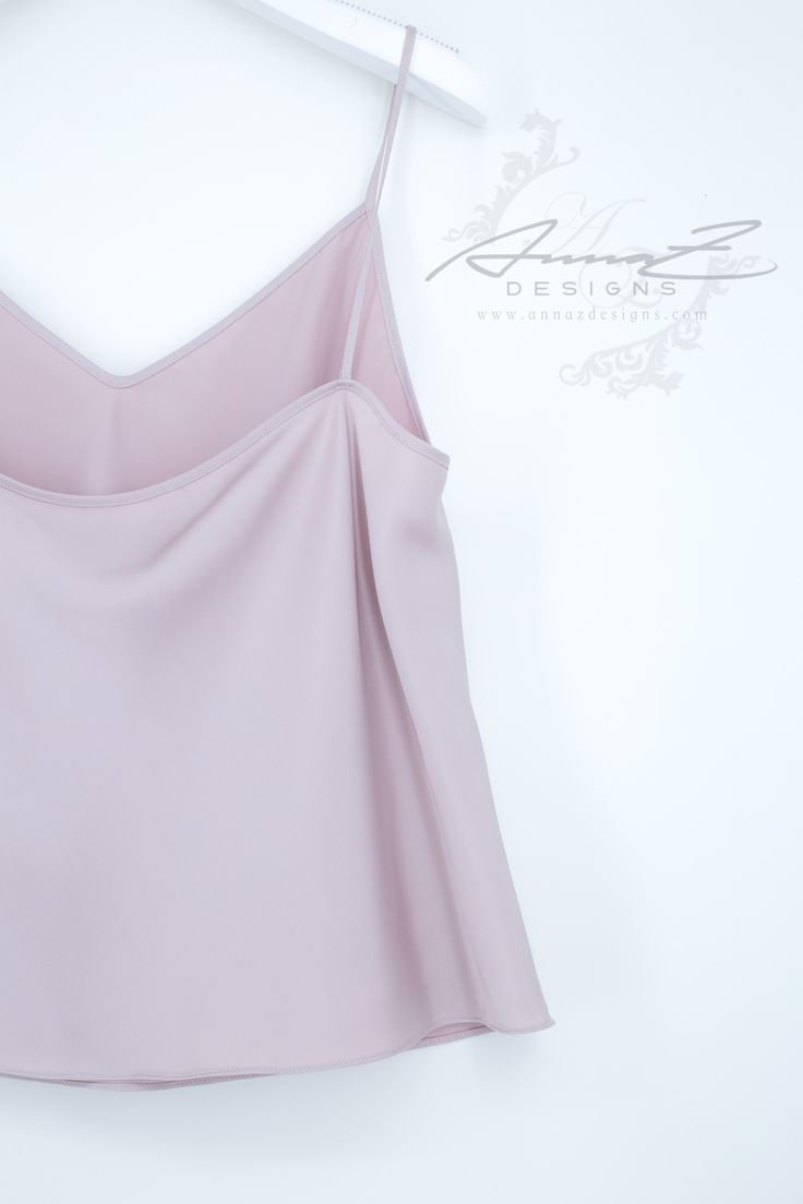 Glen Top in Rosè Silk by AnnaZDesigns