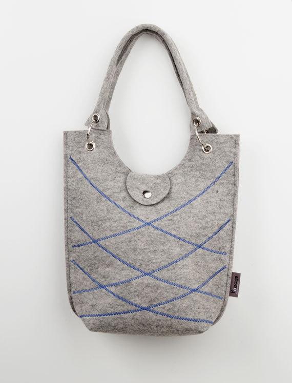 Felt tote bag  LeZigSac  Grey by FloorBohemen on Etsy, €65.00Dutch Handmade, Lezigsac Grey, Felt Totes, Totes Bags, Bags Lezigsac, Tote Bags