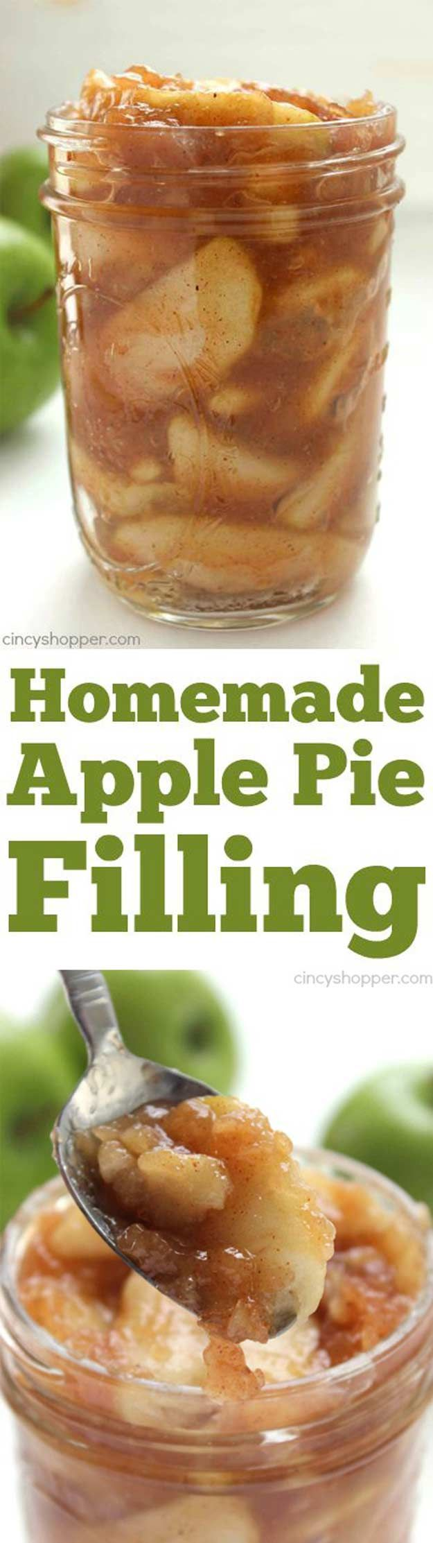 Homemade Apple Pie Filling | 10 Appetizing Apple Pie Recipe Ideas by Pioneer Settler at http://pioneersettler.com/apple-pie-recipe/