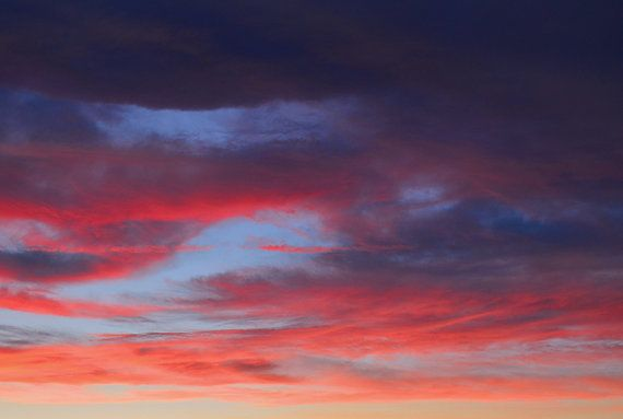 sunset sky abstract purple red nature photography art by MagicLens, $35.00