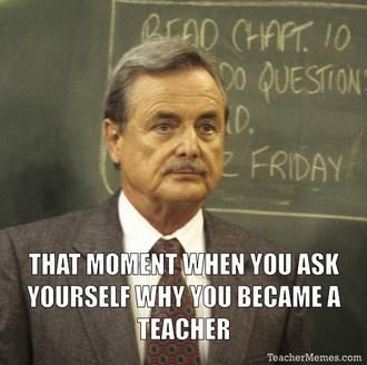 It must be 'cause of the glorious papers I get to grade every other two weeks. Said no teacher ever.