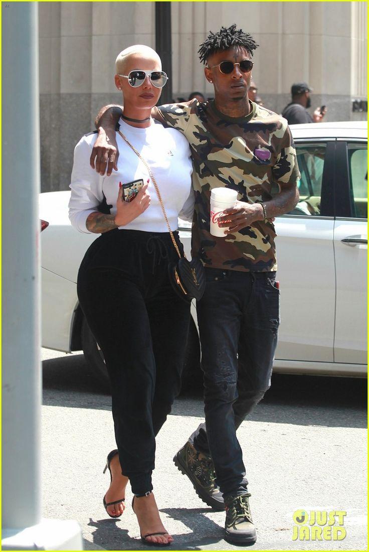 Amber Rose Stays Close to Boyfriend 21 Savage in NYC