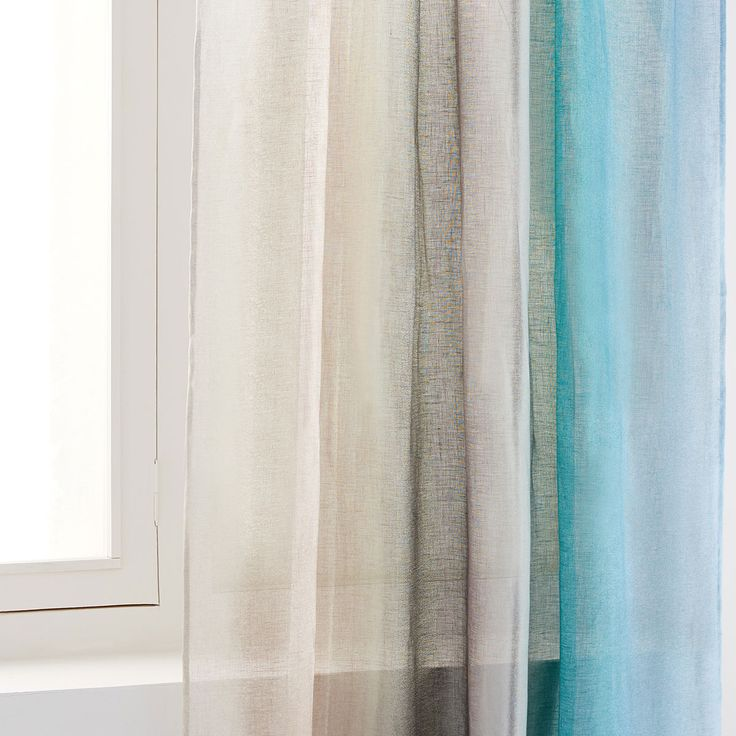 Image 1 of the product MULTICOLOURED PAISLEY PRINT LINEN CURTAIN